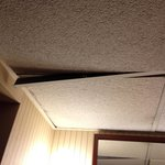 room ceiling tile falling down