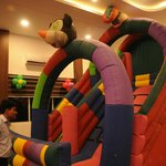 Bouncing Castle inside the hall