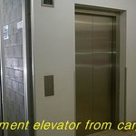 Elevator fromt he car park