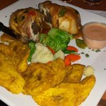 Chicken breast stuffed with churrasco steak wrapped in bacon