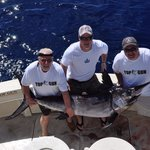170lbs swordfish caught on the Top Gun