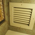dusty vent in bathroom