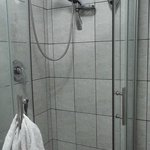 there is a shower stall!