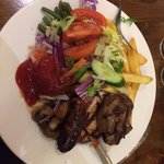 My mixed grill, some of you maybe impressed but for all you meat lovers out there it was disappo