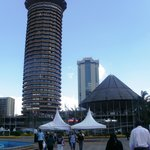 "The KICC plus the ""mushroom"" (amphitheatre)"