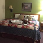 love the king bed and the USA quilt!