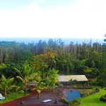 Backyard View of Hawaii's only Lava Heated Steam Sauna and Ocean Views