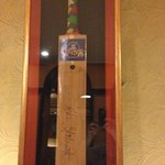 Next door to the hotel is the Pritam Restaurant has this bat signed by Aussie Cricketers like Gi