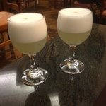 you get a free drink on arrival...the usual pisco sours here, but dont worry...they're too small