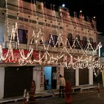 Front view on Diwali