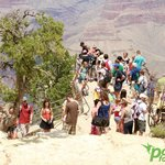 Mather Point at South Rim is the Grand Canyon's most popular lookout point.
