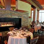 Fireside dining in Ohio's Wine Country.