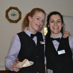 Two waitresses who made us feel special guests, not just a group who will be gone in a few days.