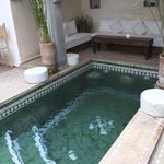 Dipping pool in the courtyard of riad shambala