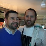 Chef Bryn Williams with me
