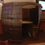 Beer Barrel Booth at Wisconsin Brew Pub