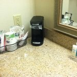 Bathroom coffee/toiletries