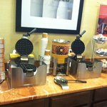 Waffle station at breakfast