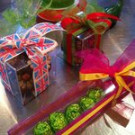 Packaged chocolates ready to take home