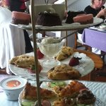 """The """"afternoon tea"""".  A big serving of yum!"""