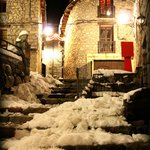 The old village of Cerler with snow