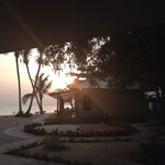 Sunset from our balcony, bungalow D9