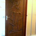 each door is carved according to the name of the room!