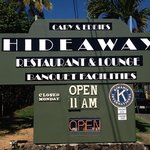 Cary & Eddie's Hideaway Remodeled Sign