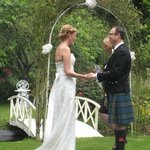 Vows taken in the garden