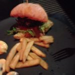 Burger in bar