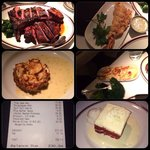40oz Portherhouse (feeds 2-3) Fried Lobster Tail, Jumbo Lump Crabcake, Lobster Mashed Potatoes,