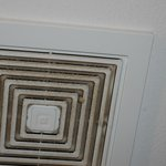 Filthy bathroom exhaust fan