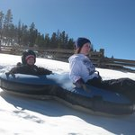 Snow Tubing down the Zip run!  Our favorite!