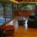 Comfy Lanai with cooling pool outside