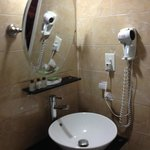 All new bath fixtures.  Hairdryer worked great!