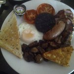 Full English breakfast. Don't forget the Marmite. yummmm