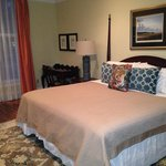 The master bedroom at the Oglethorpe Lodge
