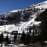 view from balcony to slopes