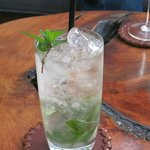 Mojito! They made an extra effort to serve us on the terrace