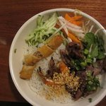 Vermicelli combo with spring roll, shrimp, and pork
