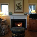 Waterside Cottage Fireplace/Sitting Area