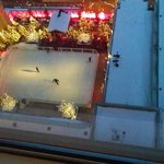Watching ice skaters from our room