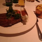yummy steak in marco piere white restaurant