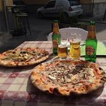 Pizza and Beer, what more could you want?