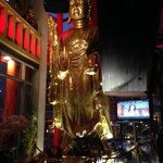 2 story Buddah in waiting area