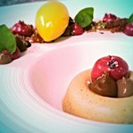 Peanut butter, cassis and calamansi lime