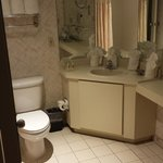 Very, very outdated bathroom.  Looks like it is a motel from the early 80s