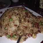 Pork fried rice!  Delicious.