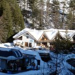 the accommodation as seen from the ski lift opposite