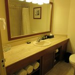 Nice bathrooms with high quality toiletries (Crabtree & Evelyn) soap, shampoo, etc.